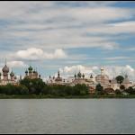 Вид на кремль с озера Неро