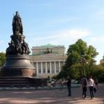 «Катькин садик» перед Александринским театром на Невском
