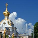 Купол церкви Большого дворца в Петродворце (Петергофе)
