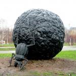 Пермь: жук скоробей в парке Камней