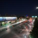 Пермь: Октябрьская площадь ночью