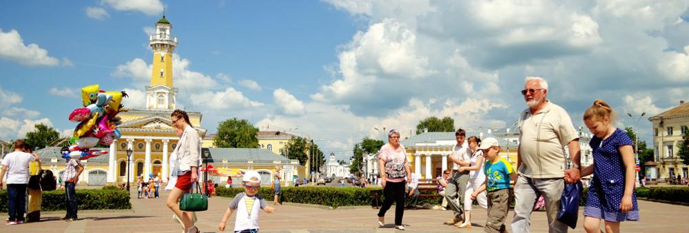 Кострома: на центральной площади